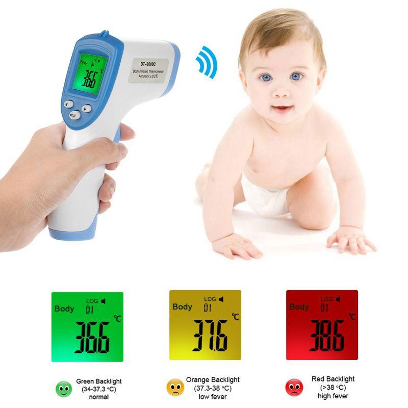 Цифровой инфракрасный быстрое чтение точной лоб термометр здоровья ребенка Бесконтактный Средства ухода за кожей Температура Meter детский ...