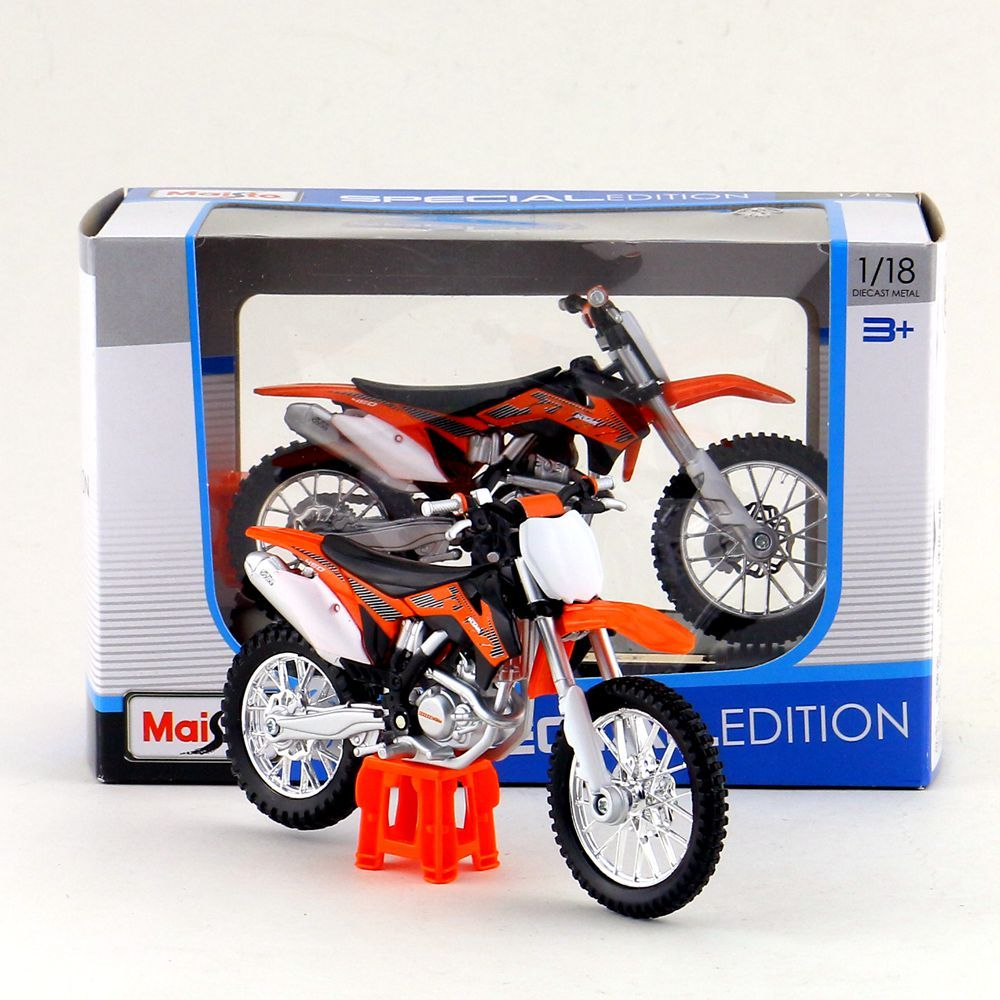 Maisto/1:18 Scale/Diecast model motorcycle toy/KTM 450 SX-F Supercross Model/Delicate Gift or Toy/Colllection/For Children