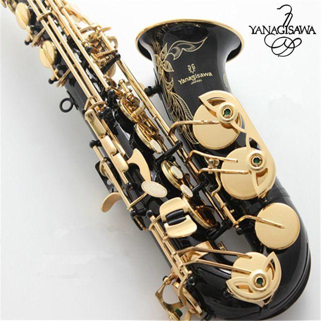 Professionelle Japan Yanagisawa Gold Überzogene Carving Saxophon Alto Eb Sax Messing Instrumente Musik Saxofone Alto A-991