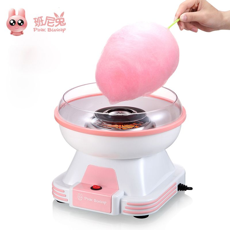 Pink Bunny Electric Cotton Candy Maker Mini Portable DIY Sweet Machine For Cotton Candy Household Food Processors Children Gift