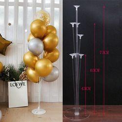 1 set happy birthday balloon display stand balloon birthday wedding party party decoration balloon frame confetti balloon stand
