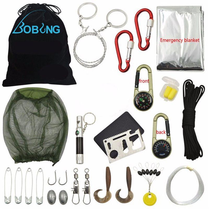 Bobing 18 In 1 Multifunktionale Outdoor Angeln Werkzeuge Angelgerät Getriebe Überleben Kit Notfall Kit Wilden Reise Wesentliche Zubehör