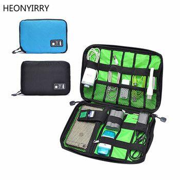 Wasserdichte Outdoor Reise Kit Nylon Kabel Halter Tasche Elektronische Zubehör USB Stick Lagerung Fall Camping Wandern Organizer Tasche