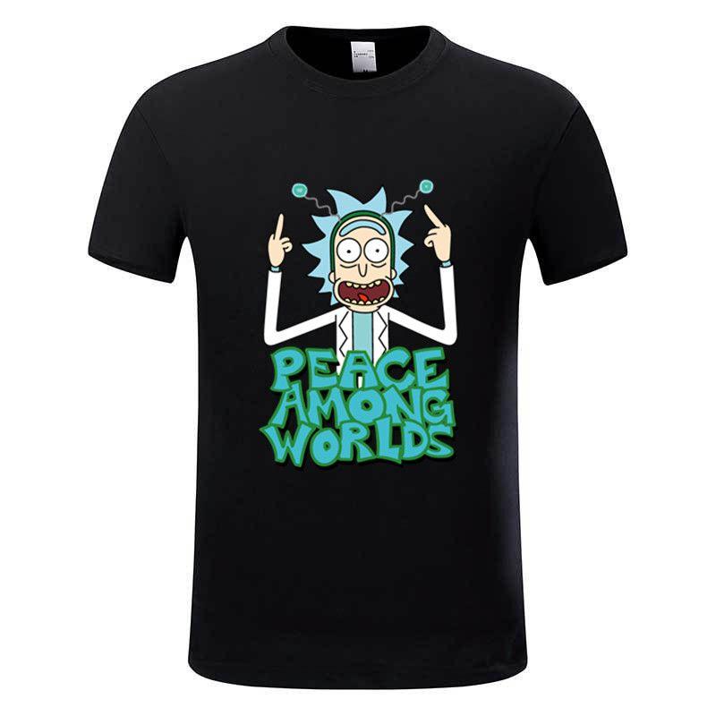 Euro Größe, 100% Baumwolle, männer Anime Rick und Morty Drucken T-shirt Männer Freies Rick T-shirt Frauen Marke-kleidung Poleras Hombre, GMT008B