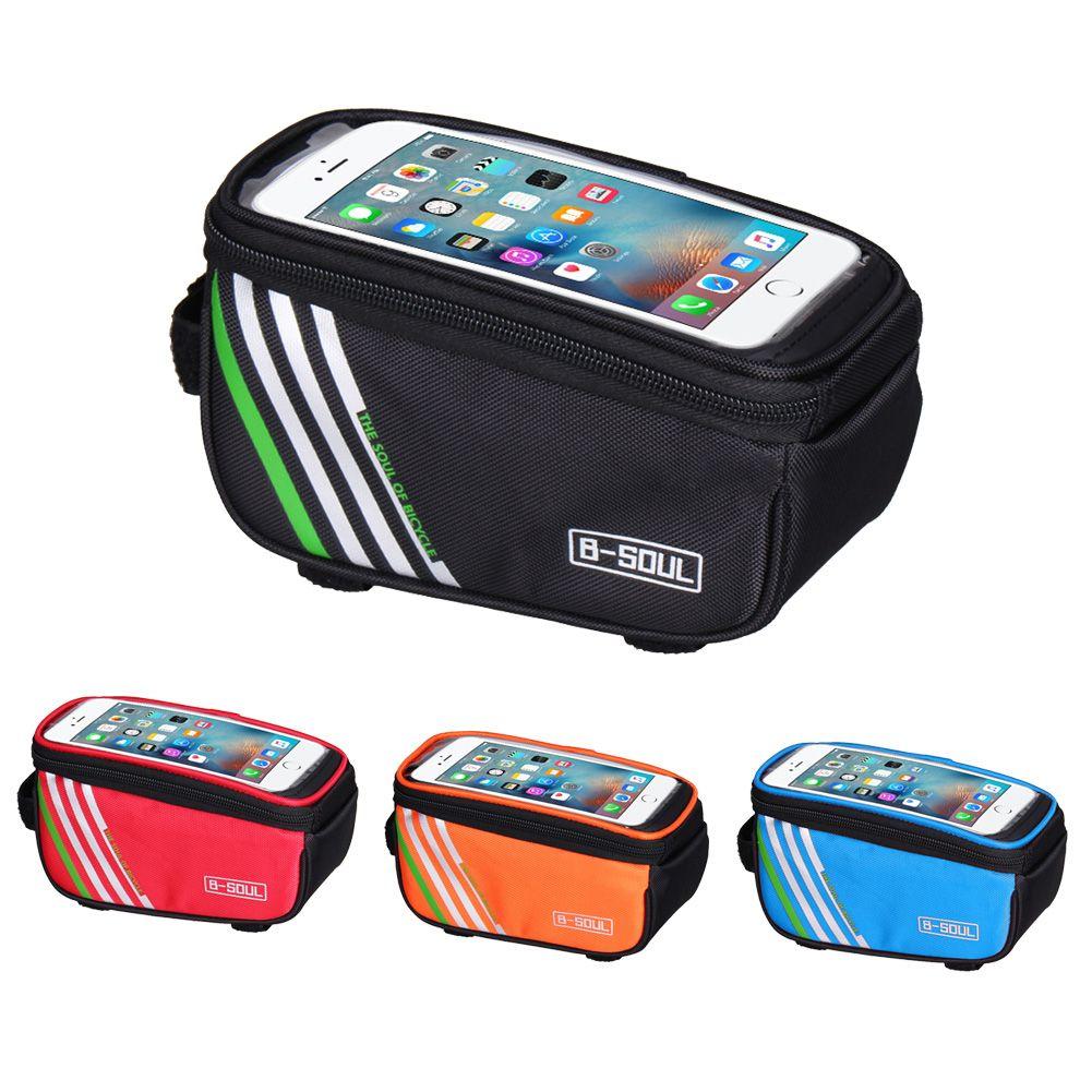Wasserdichte Touchscreen Fahrrad Taschen Radfahren MTB Mountainbike Rahmen vorne Rohr Aufbewahrungstasche für 5,0 zoll Handy 4 farben