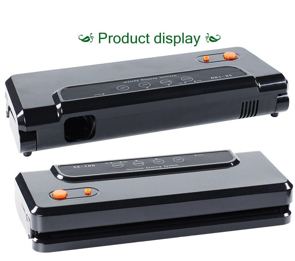 Haushalts multifunktionale Vakuumnahrungsmitteleichmeister Automatische Vakuum-packer Vakuum-verpackungsmaschine mit 10 stücke von Taschen Lebensmittel Schoner