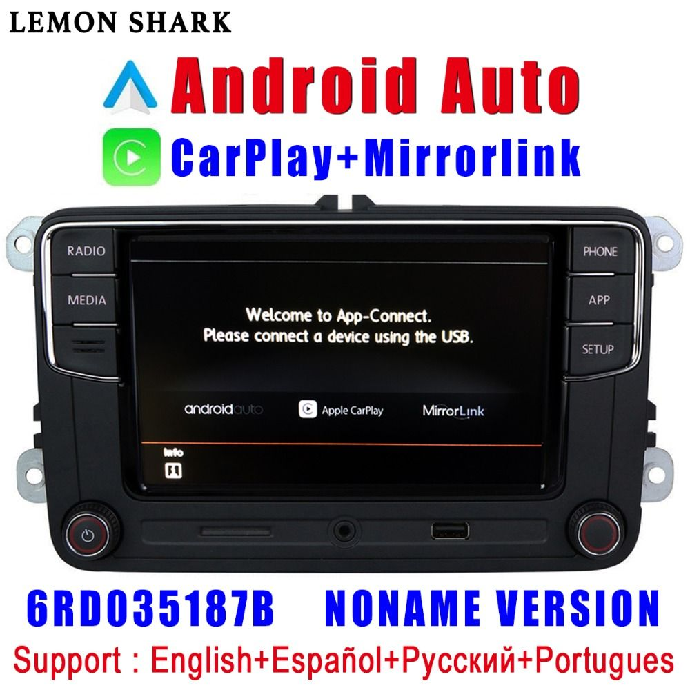 RCD330 Plus RCD330G Carplay Android Auto Noname 6RD 035 187B Car Radio MIB For VW Golf 5 6 Jetta MK5 MK6 CC Tiguan Passat Polo