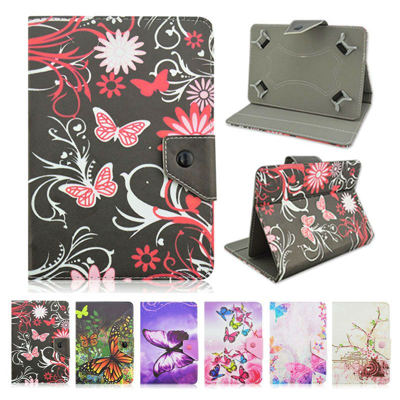 Print PU Leather Protective Case Cover for Wolder MiTab Roma 10.1 Inch Universal Adjustable cases+Center Film+pen KF492A