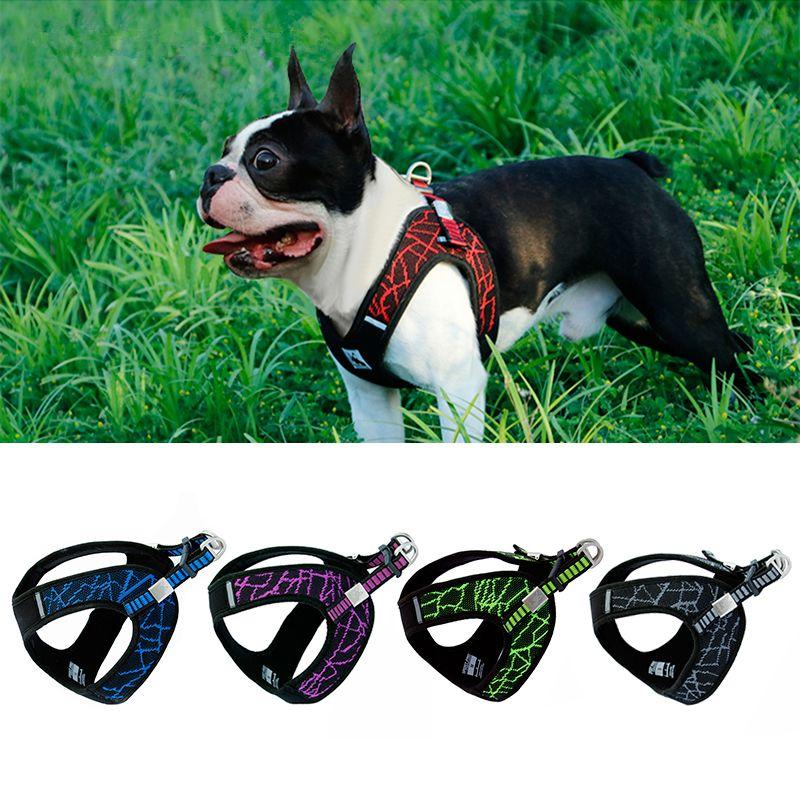 Harnais de chien réfléchissant Sport sans traction pour petit moyen grand chien Pitbull Bulldog entraînement de chien en plein air gilet de sécurité harnais