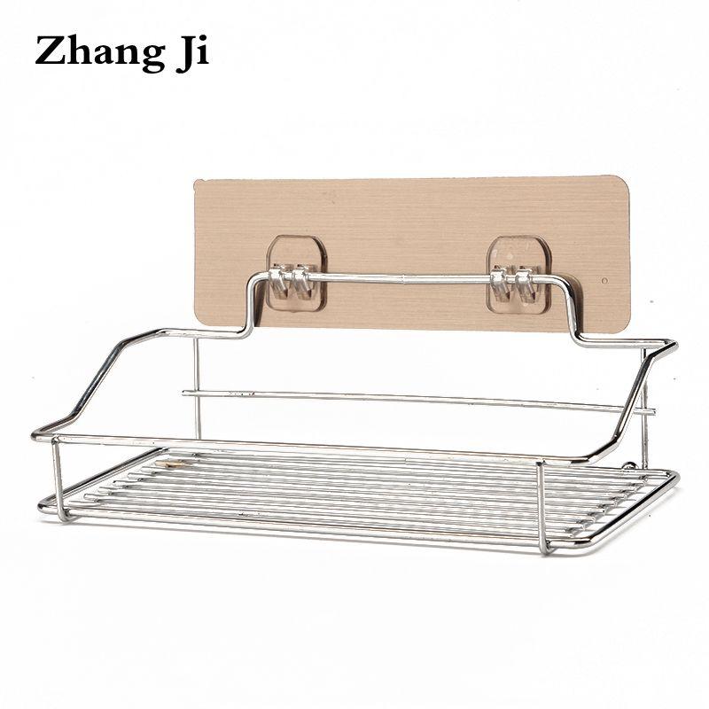Zhang Ji Edelstahl Bad Regale Wand Montiert Ablagekorb Bad-accessoires Handtuchhalter Bad Produkt Halter ZJ071