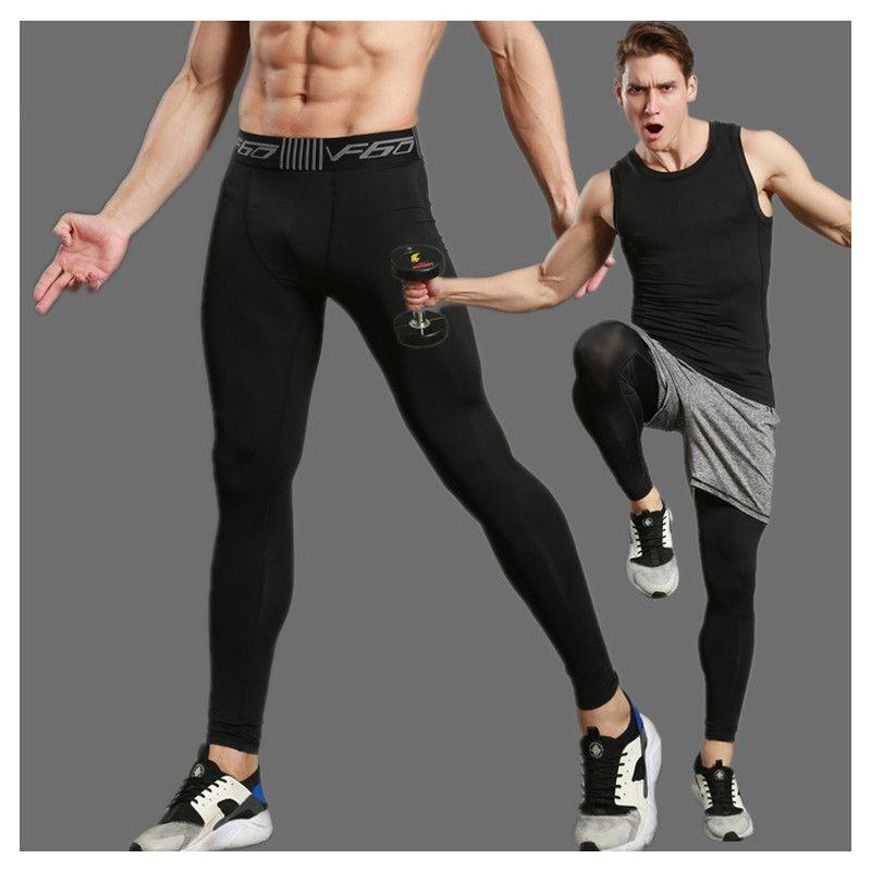 Compression Pants Men Sports Running Tights Men Bodybuilding Jogging Leggings Fitness Gym Clothing Sport Leggings Men Trousers