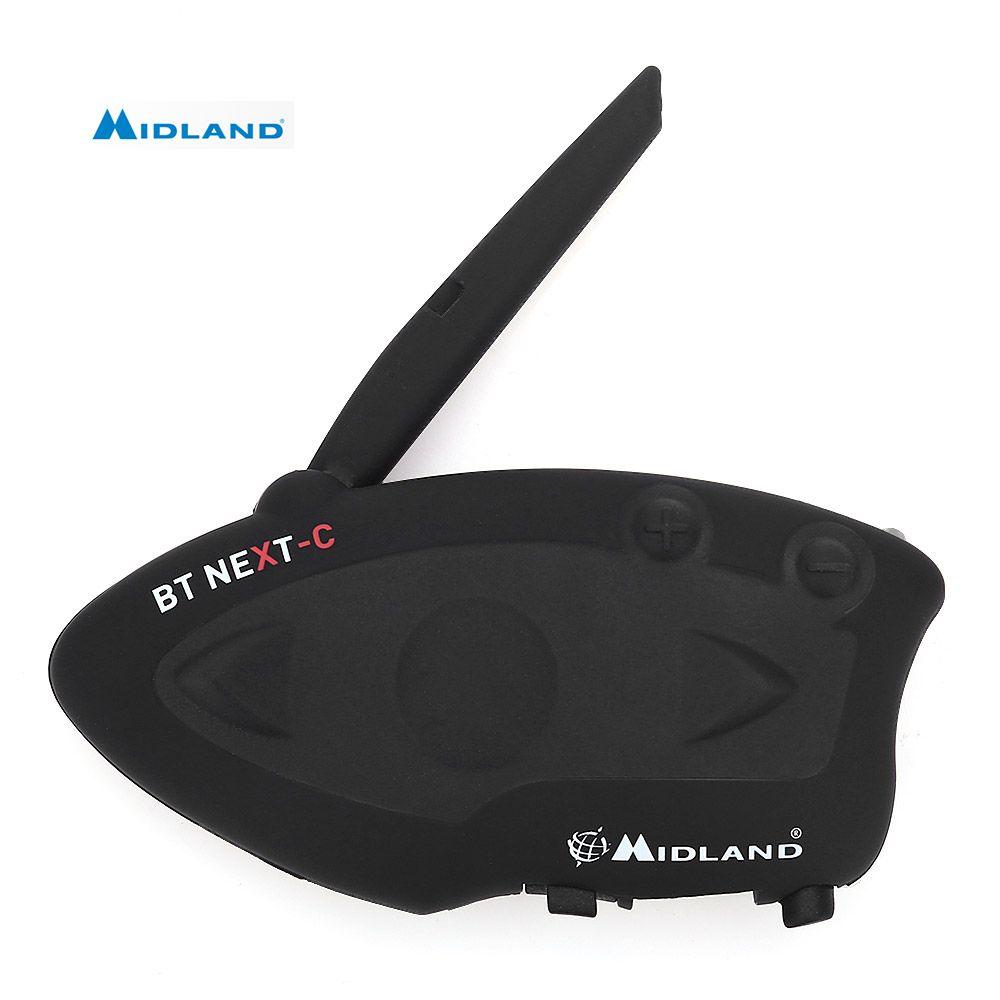 MIDLAND BT NEXT Bluetooth Motorcycle Helmet Intercom Headset Water-Resistant Interphone Talking Distance 1600 Meters