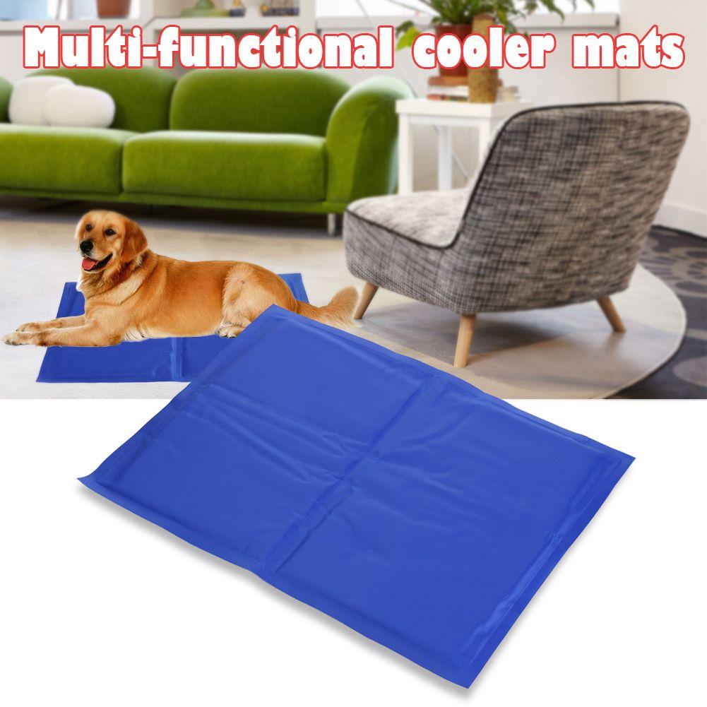 Tapis de refroidissement pour chien, chat, tapis de glace doux, chiot d'été, tapis de glace étanche en PVC, chenil de refroidissement, grand chien, tapis de couchage, lits, fournitures pour animaux de compagnie