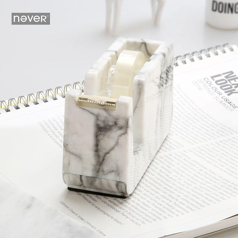 Nunca Mármol Edición Masking Tape Dispenser Cortador Cortador de Cinta Dispensador de Cinta Adhesiva oficina accesorios de Escritorio Papelería