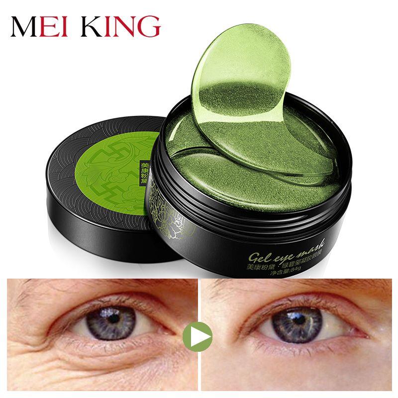 MEIKING Collagen <font><b>Crystal</b></font> Eye Mask Gel Eye Patches 60pcs Eye Care Sleep Masks Remover Dark Dircles Anti Age Bag Eye Wrinkle Patch