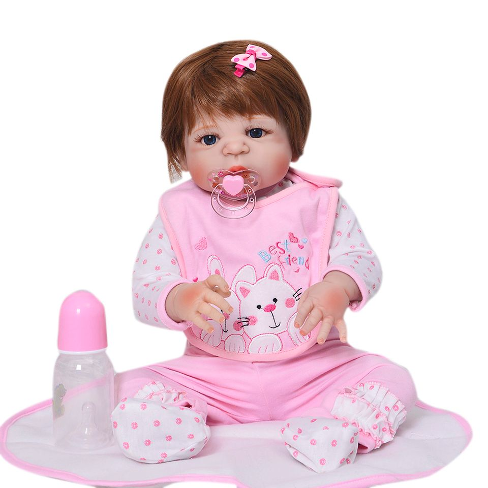 New Arrival 57cm 23Inch Full Silicone Vinyl Reborn Baby Dolls Life Fashion Newborn Dolls Best For Kids Birthday Gifts Born BeBe