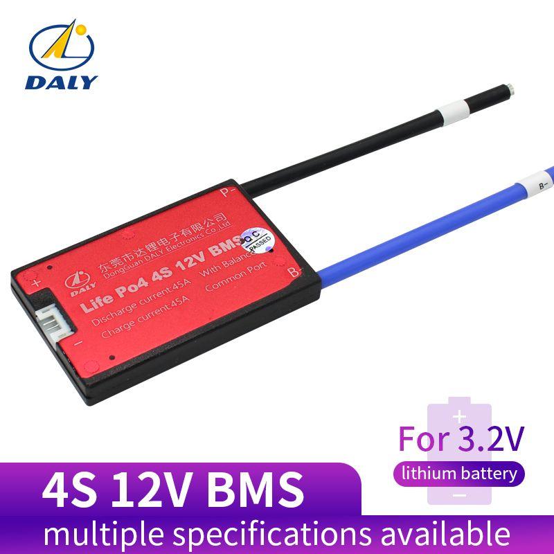 Daly 18650 BMS 4 S 12 V 25A 35A 45A 60A étanche BMS pour batterie Rechargeable Lifepo4 avec le même Port pour batterie au lithium