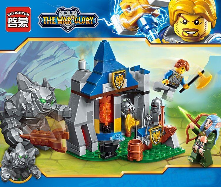 New Model building kits compatible with lego Battle of glory series 2303 134pcs 3D blocks Educational toys hobbies for children