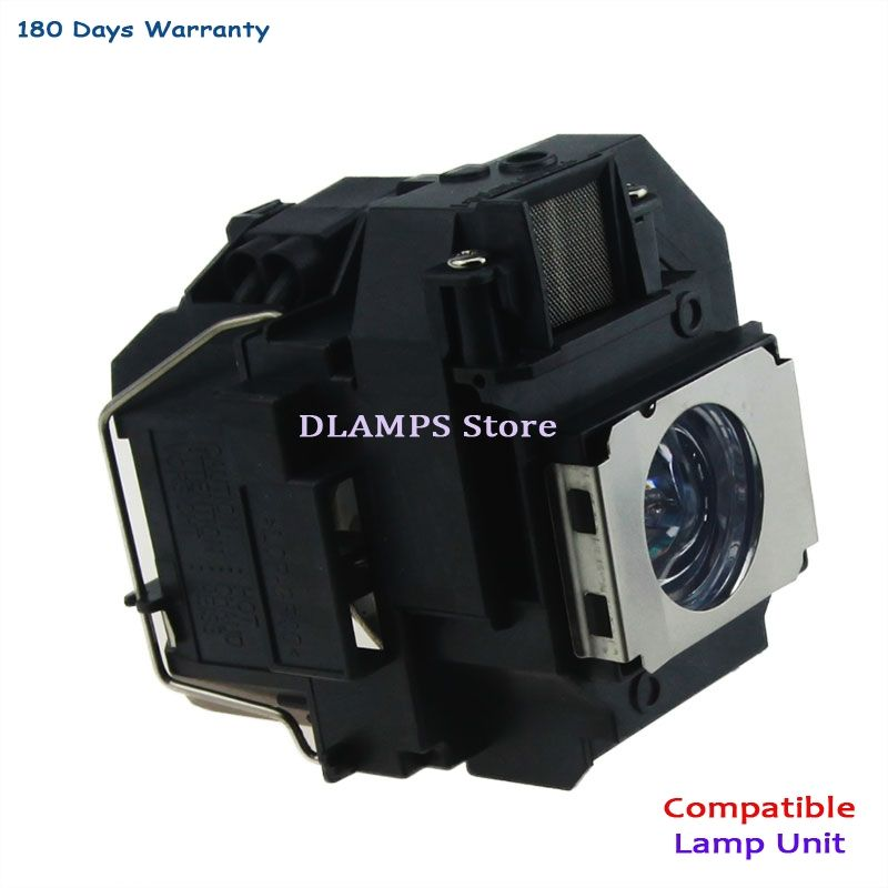 Ampoule de remplacement avec boîtier ELP58 V13H010L58 adapté pour EPSON EB-S10/EB-S9/EB-S92/EB-W10/EB-W9/EB-X10/EB-X9 EB-X92