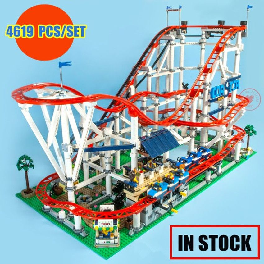 New 4619Pcs The roller coaster fit legoings city creator technic figures Buidling Block Bricks 10261 Kids diy Toys birthday Gift