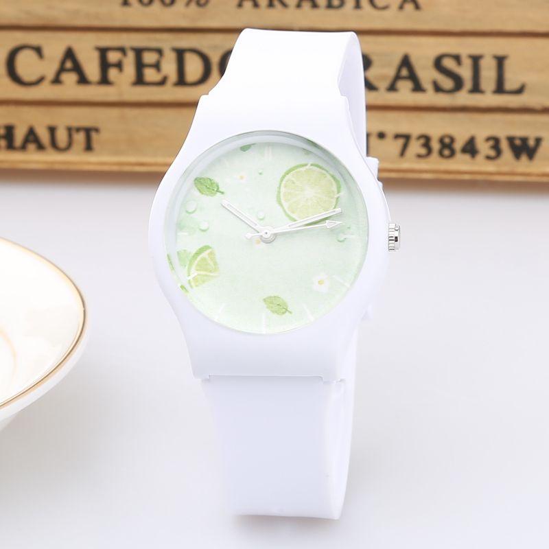 Nouvelle marque de mode mignon Harajuku citron Mini femmes enfants montre étanche gelée Sport montre pour les filles montre-bracelet à Quartz
