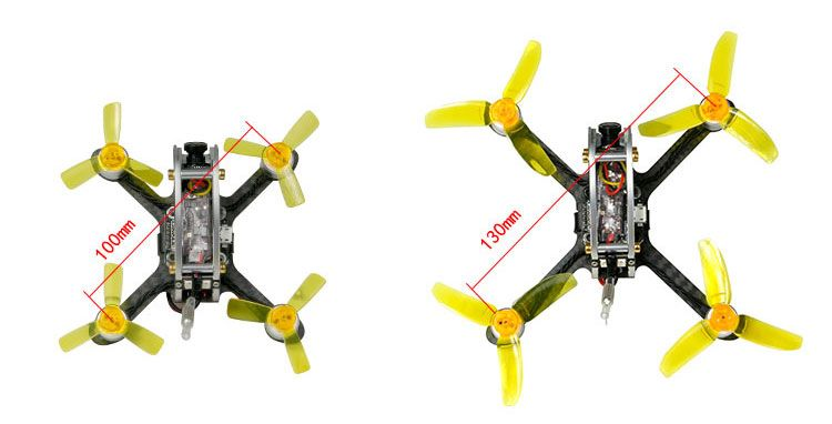 100/130 PNP FPV Racer Drone Mini fly egg Indoor Quadcopter PIKO BLX Flight Control with DSM-2/XM/FS-RX2A/FM800 Receiver F21459