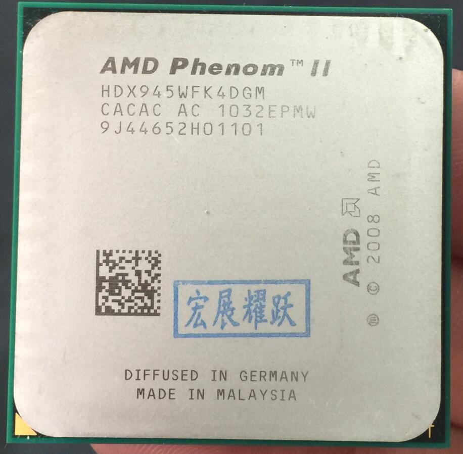 AMD Phenom II X4 945-HDX945WFK4DGM C3 AMD 945X945 95 W 95 W Quad-Core AM3 938 CPU 100% fonctionne correctement processeur d'ordinateur de bureau
