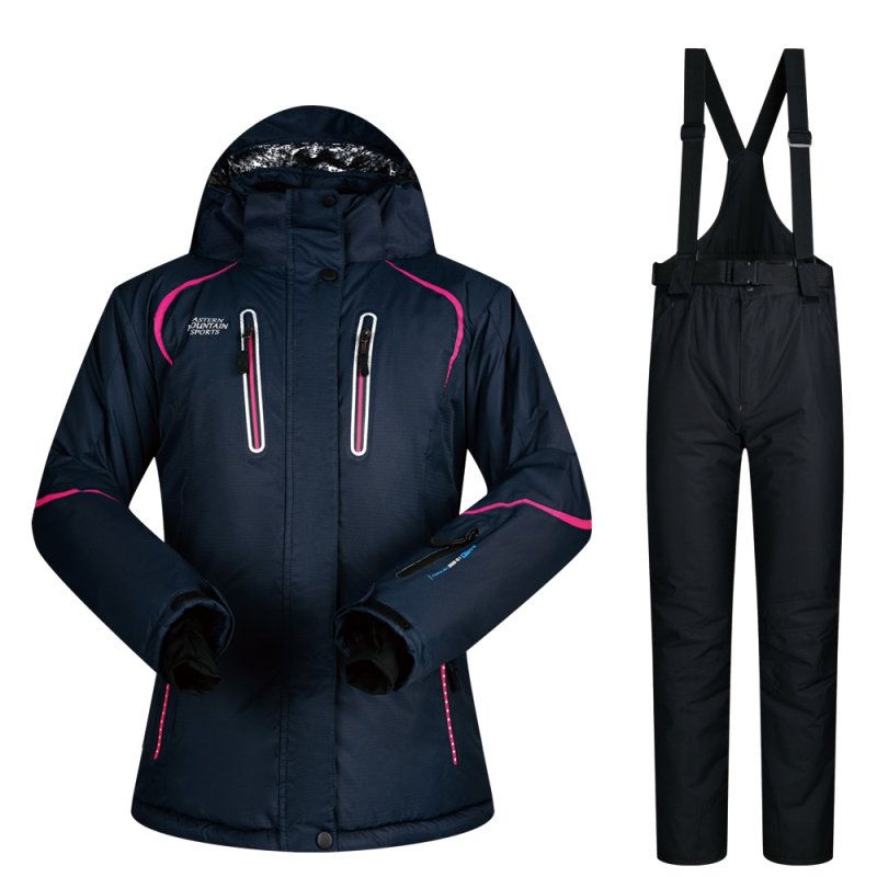 Women Ski Suit Winter Ski Jacket And Pants High-quality Windproof Waterproof Breathable Thermal Skiing Snowboarding Suits Brands