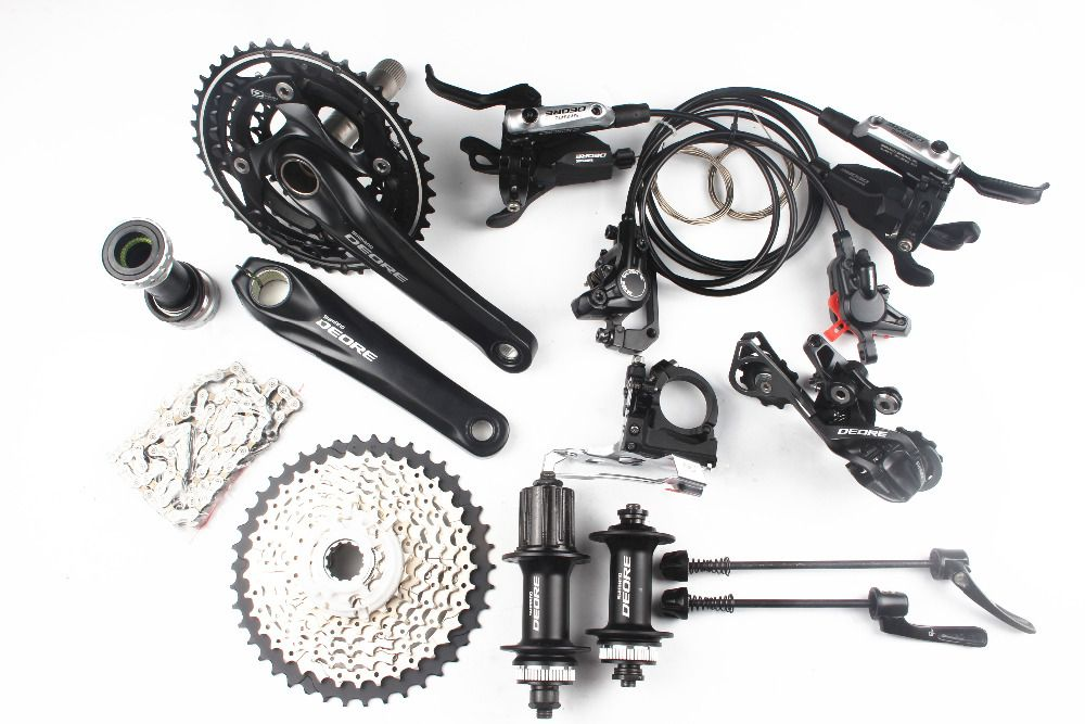 Shimano Deore M610 M615 3x10 2x10 geschwindigkeit kit bike fahrrad MTB Groupset Gruppe Set + ICH -Spec-B shifter + M615 bremse + M615 hub