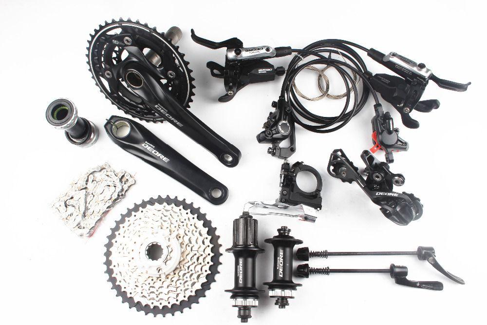 Shimano Deore M610 M615 3x10 2x10 speed kit bike bicycle MTB Groupset Group Set + I-Spec-B shifter + M615 brake + M615 hub