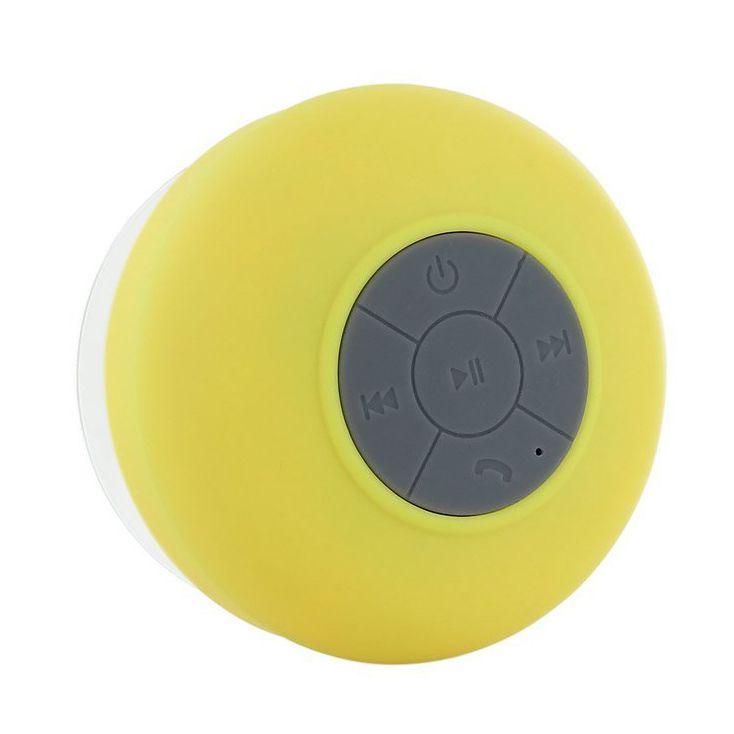 CES-Wireless Hand-free Bluetooth Waterproof Shower Speaker/Microphone Yellow