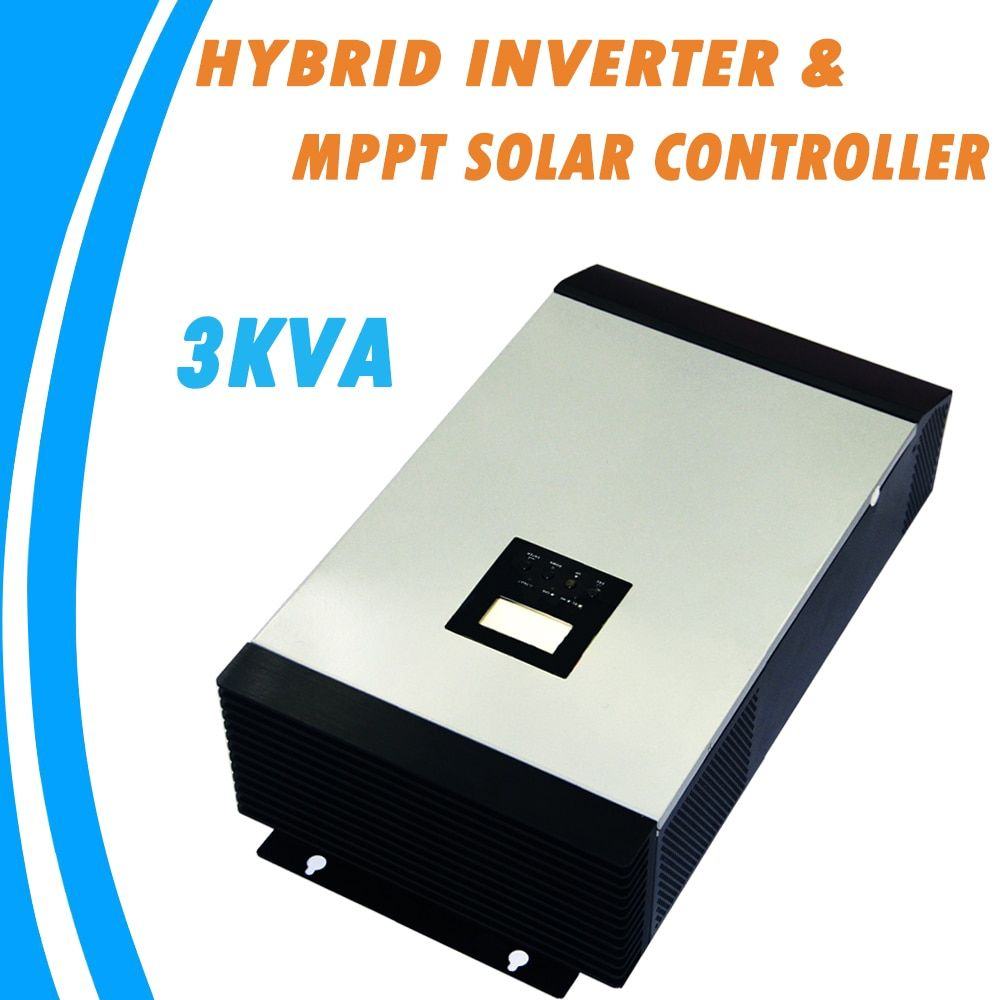 3KVA Pure Sine Wave Hybrid Inverter 24V 220V Built-in 25A MPPT PV Charge Controller and AC Charger for Home Use MPS-3K