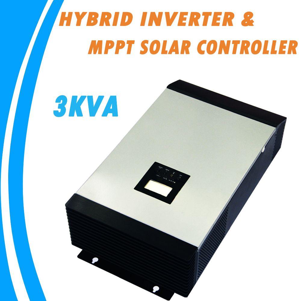 3KVA Pure Sine Wave Hybrid Inverter Built-in MPPT Solar Charge Controller MPS-3K