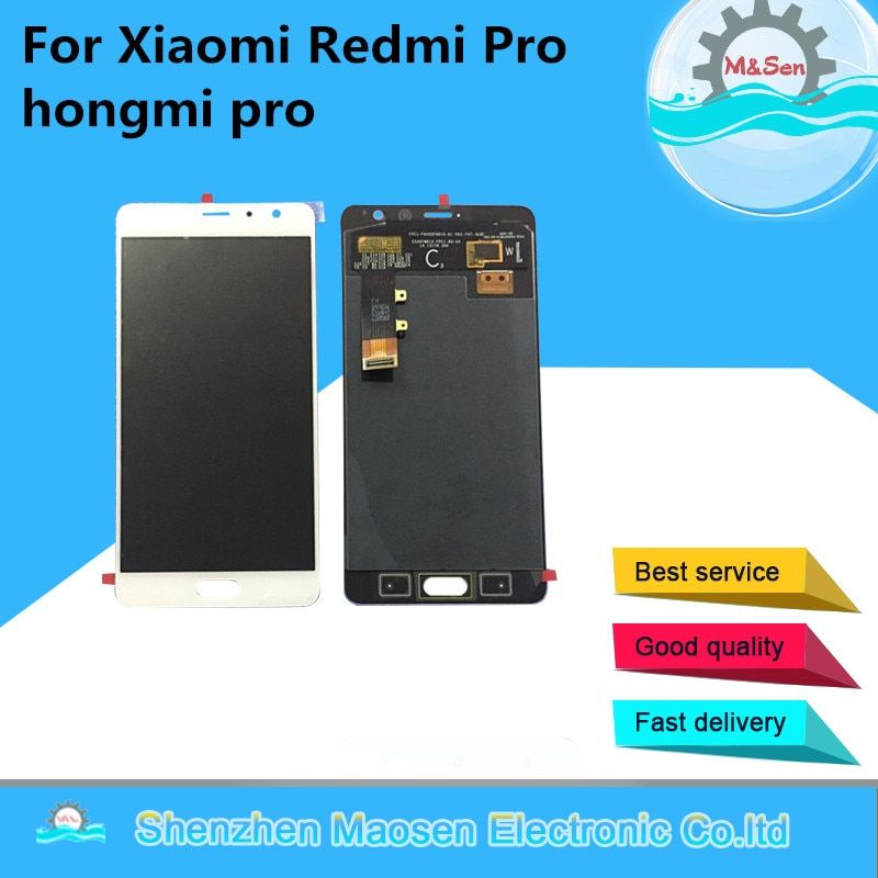 Original M&Sen OLED For 5.5 Xiaomi Redmi Pro hongmi pro LCD Display Screen +Touch digitizer Black/gold/white For Redmi pro LCD
