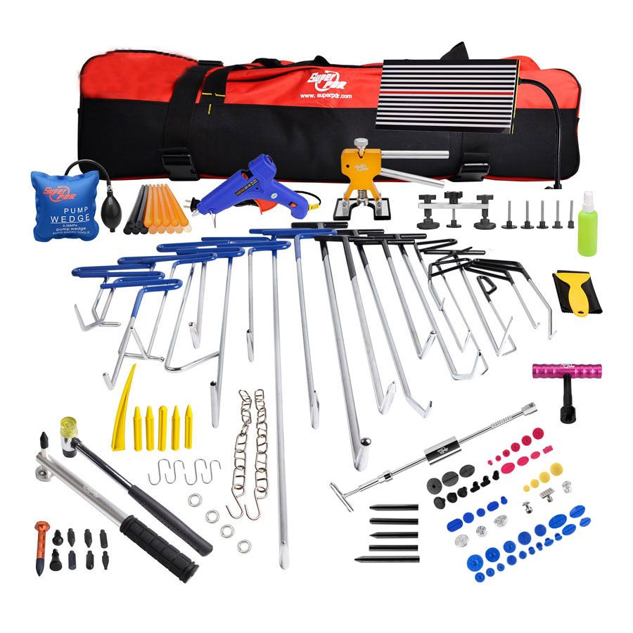 PDR Rods Paintless Dent Repair Set Professional PDR Hand tools Rods Car Dent Removal Hooks Fast Shipping