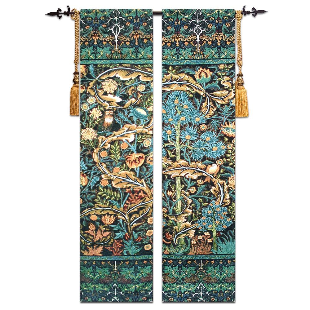 2pcs/Lot Tree of Life Tapestry High-end Cotton Art Belgium Tapestry Wall Hanging Tapestries Wall Carpet Medieval Gobelin Fabric