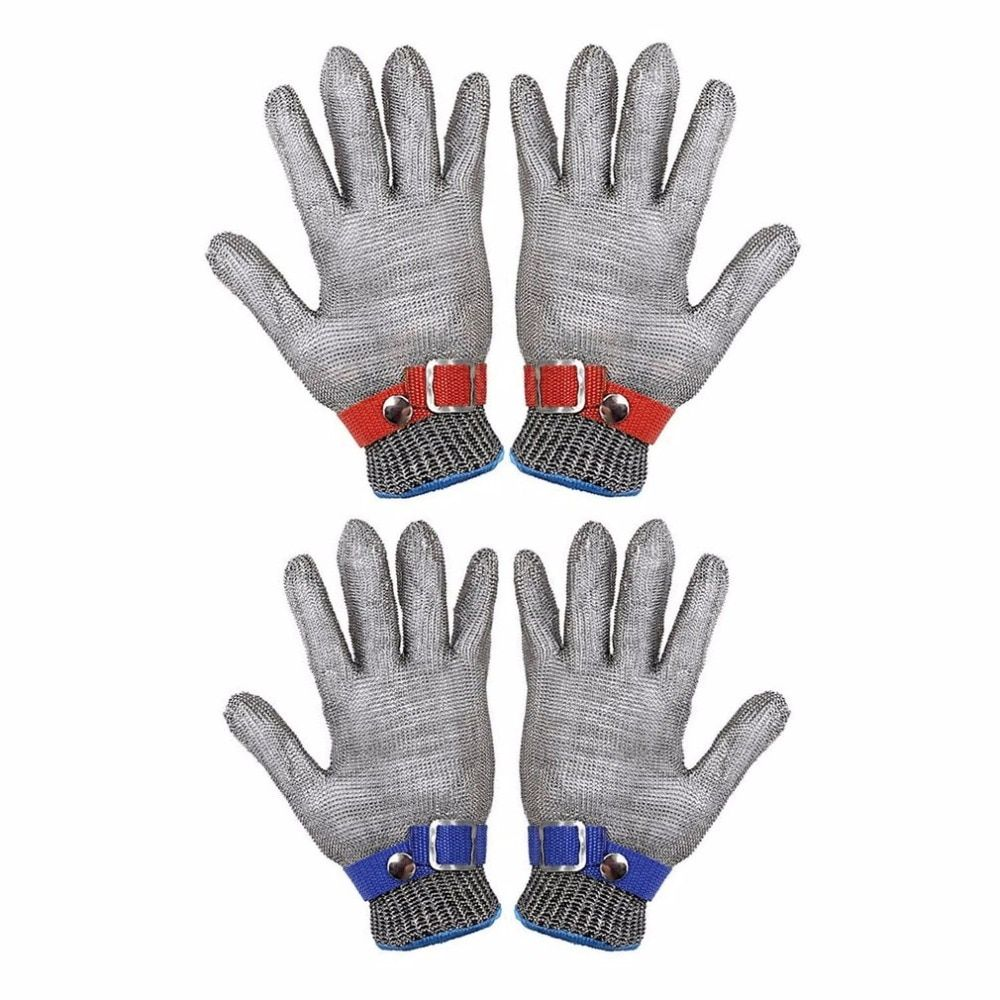Safety Cut Proof Stab Resistant Stainless Steel Metal Mesh Butcher Glove Health And Safety Easy To Clean Durable Quality Newest