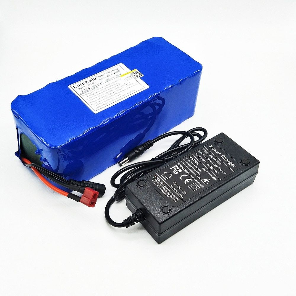 LiitoKala 36V 8ah 500W <font><b>18650</b></font> lithium battery 36V 8AH Electric bike battery with PVC case for electric bicycle 42V 2A charger