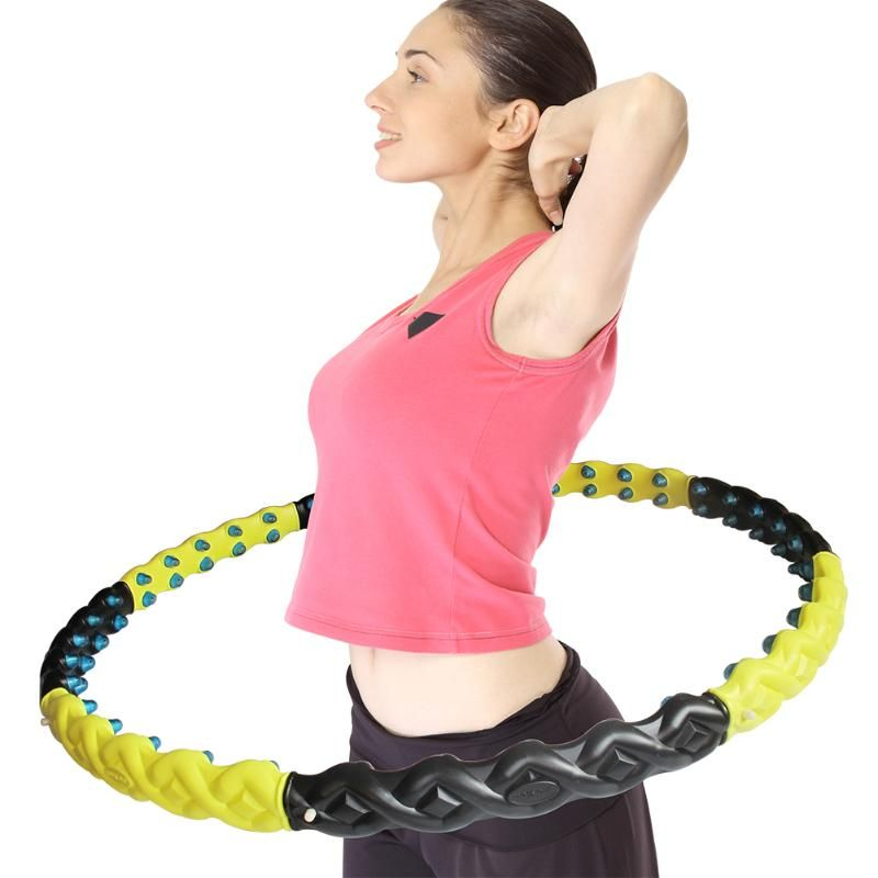 Hula Hoop with Magnet Massage Ball Large and Weighted Hula Hoop Workout Female Slimming Thin Waist Fitness Crossfit for Home Gym