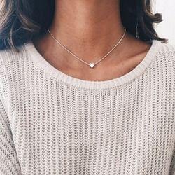 Tiny Herz Choker Halskette für Frauen gold Silber Kette Smalll Liebe Halskette Anhänger auf neck Bohemian Chocker Halskette Schmuck