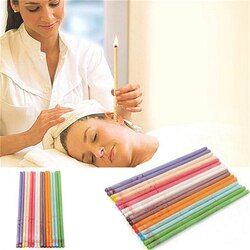 10Pcs Treatment Therapy Fragrance Candling  Healthy Care Ear Candles Ear Treatment Ear Wax Removal Cleaner Ear Coning
