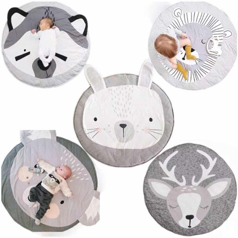 Baby game Blanket Animals Pattern Sleep round carpet rugs kids Soft Warm crawling blanket infant Bath Towel Play Mat