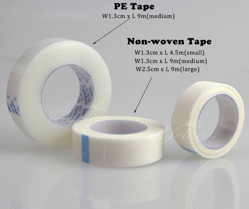 10 unids/set Profesional Extensión de la Pestaña Bajo Parche Pad Herramienta de Pestañas Falsas Individuales de Maquillaje No tejido y PE Aislados Wrap cinta