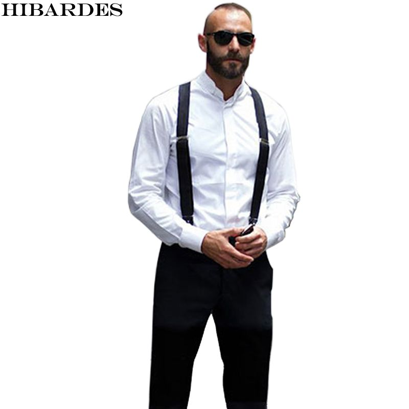 18 color Men's Suspenders men Braces Supports Elastic Adjustable Pants tirantes Clothing Accessories suspensorio
