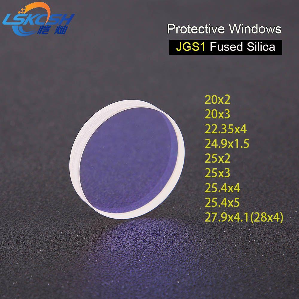 LSKCSH 10 teile/los Laser Schutzhülle Windows Dia.20 22,35 25 25,4 26,5 27,9 Quarz Quarzglas für Faser Laser 1064nm 0 -2000 watt