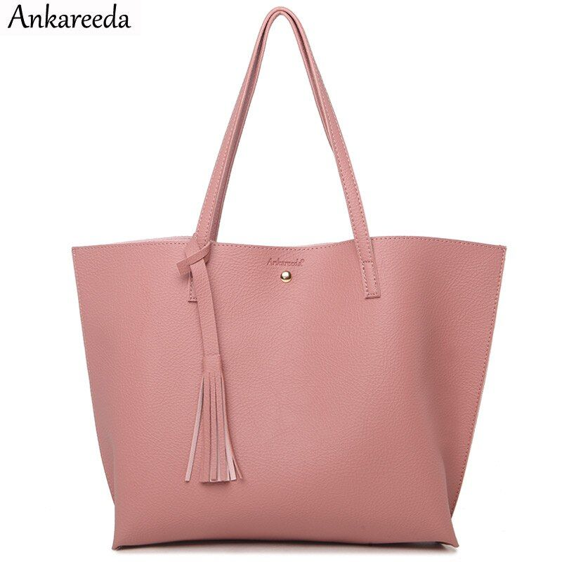 Ankareeda Top-Handle Bags Women's Soft Leather Handbag High Quality Women Shoulder Bag Luxury Brand Fashion Women's Handbags