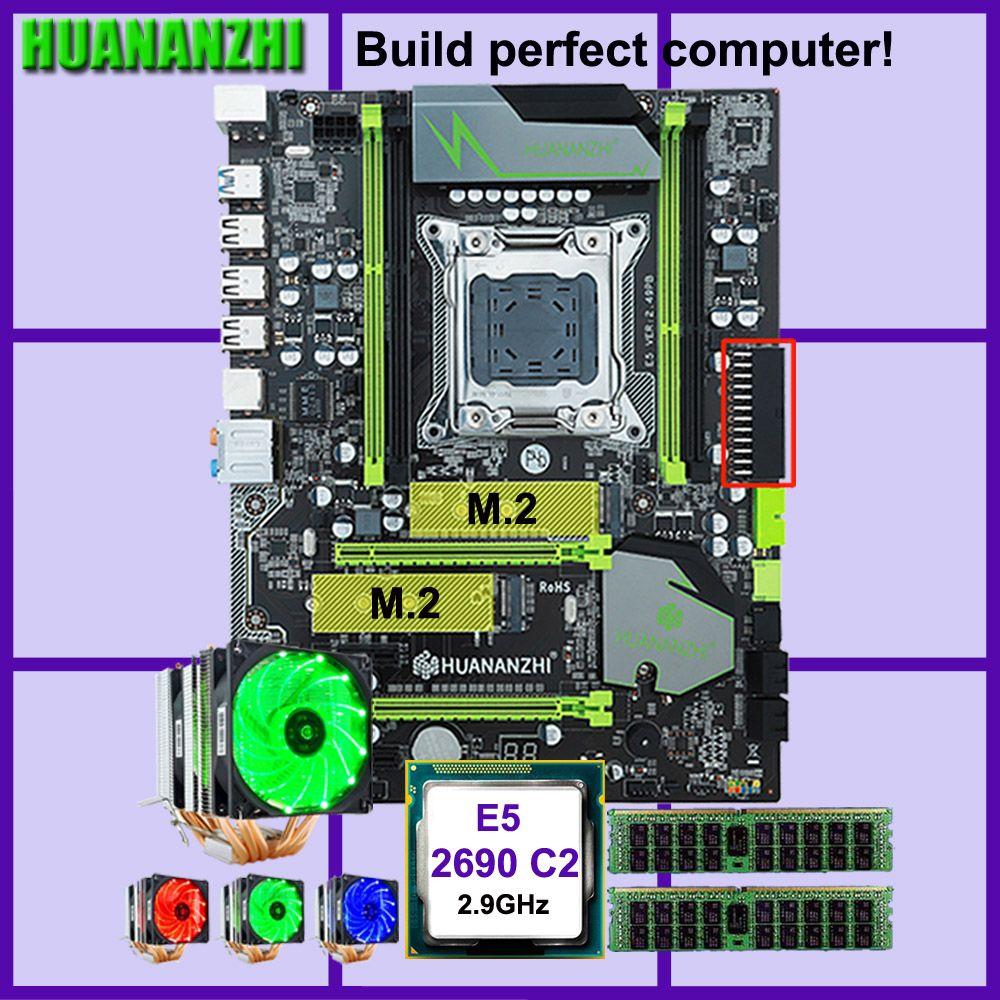 HUANANZHI X79 Pro motherboard mit dual M.2 slot rabatt motherboard CPU Xeon E5 2690 2,9 GHz 6 rohre kühler RAM 32G (2*16G) RECC