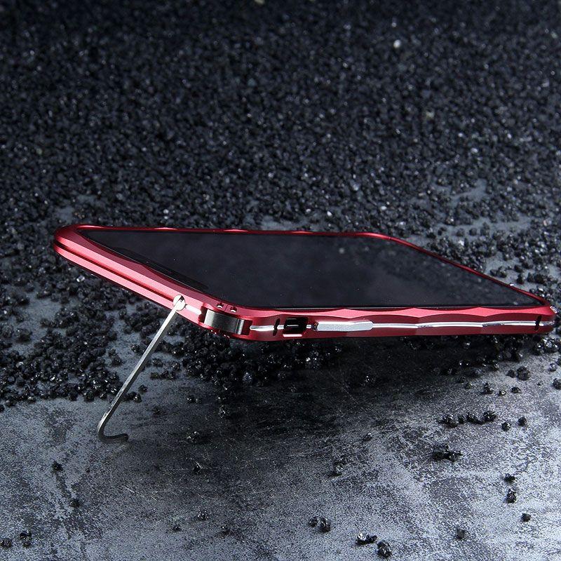D'origine iMatch Butoir Pour l'iphone X Forme de Diamant de Luxe En Aluminium En Métal Invisible Béquille Pare-chocs Pour iPhone X Téléphone Cas