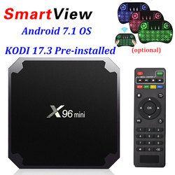 X96 mini Android 7,1 Smart TV Caja 2 GB 16 GB 1 GB 8 GB Amlogic S905W Quad Core Soporte 4 K 30tps 2,4 GHz WiFi X96mini IPTV Set top box