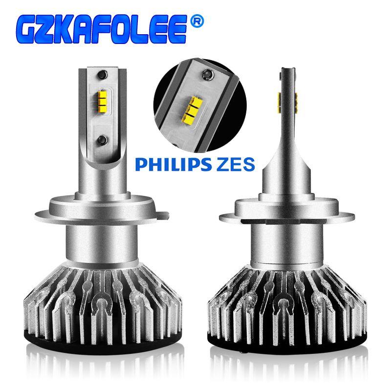 2 pcs turbo led h7 h4 canbus super Phare De Voiture Ampoules h1 h3 h8 h11 9005 9006 9012 HIR2 10000LM EMC LUMILEDS ZES